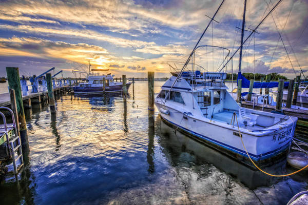 Okeeheelee Park Photograph - Sunset Over The Docks by Debra and Dave Vanderlaan