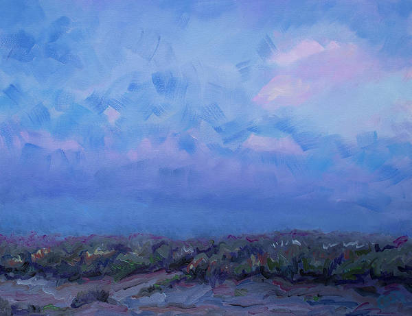 Painting - Sunset Over The Dunes On Golden Strand Doogurt Achill by Catherine Considine