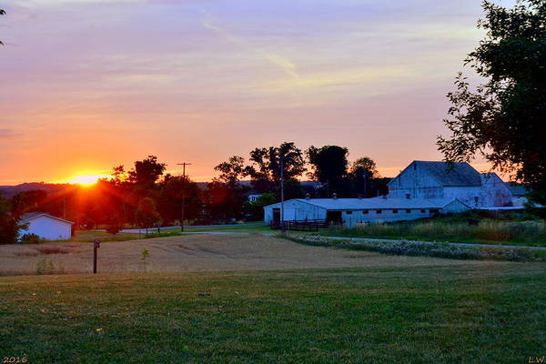 Photograph - Sunset Over The Farm by Lisa Wooten