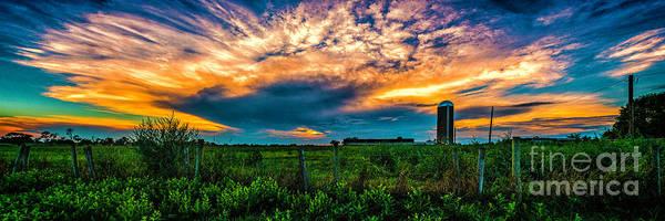 Photograph - Sunset Over The Farm by Nick Zelinsky