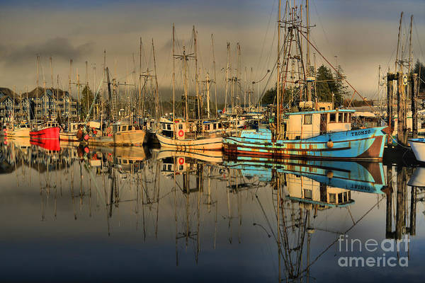 Port Of Vancouver Wall Art - Photograph - Sunset Over The Fishing Fleet by Adam Jewell