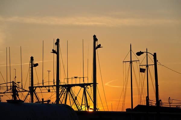 Photograph - Sunset Over The Fleet by Louis Dallara