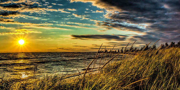 Sunset Over The Great Lake Art Print