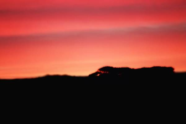 Disappearance Photograph - Sunset Over The Hills by Frances Lewis
