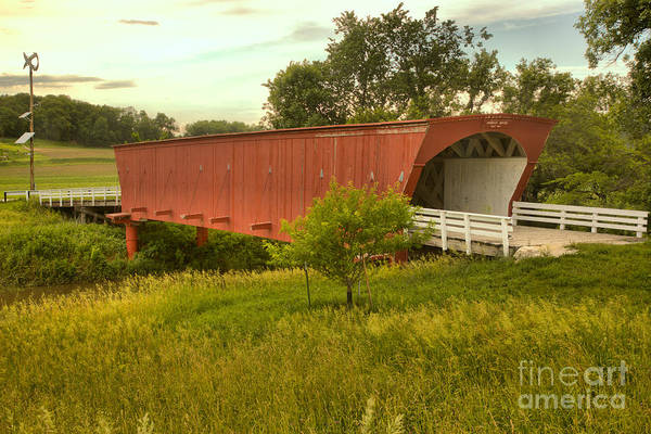 Photograph - Sunset Over The Hogback Covered Bridge by Adam Jewell