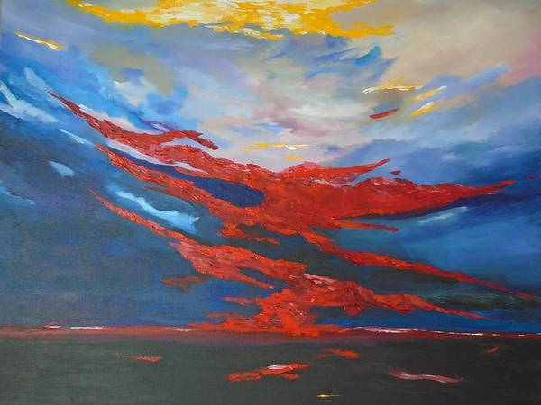 Painting - Sunset Over The Islands Of Ireland by Conor Murphy