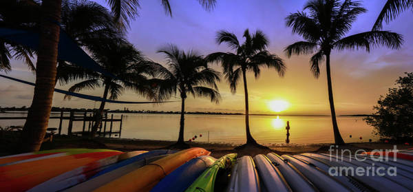 Wall Art - Photograph - Sunset Over The Kayaks by Jon Neidert
