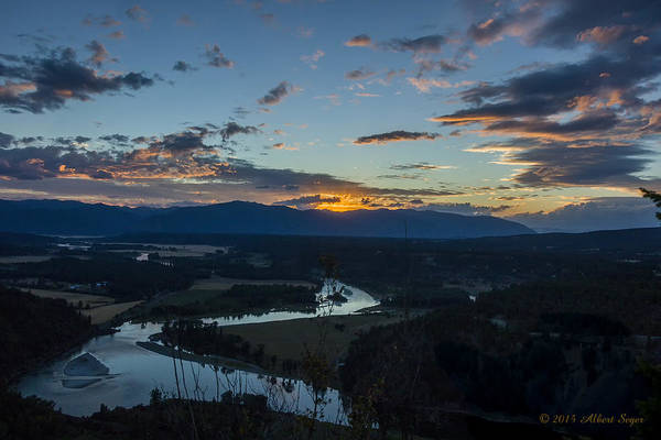 Photograph - Sunset Over The Kootenai Valley by Albert Seger
