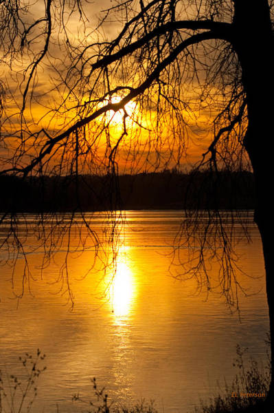 Photograph - Sunset Over The Lake by Edward Peterson