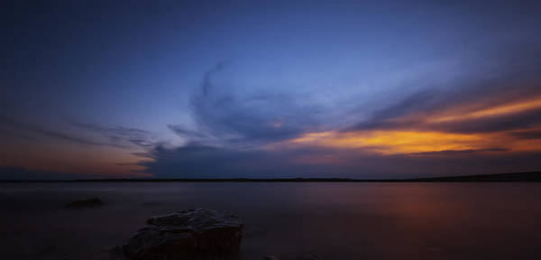 Photograph - Sunset Over The Lake by Jonathan Davison