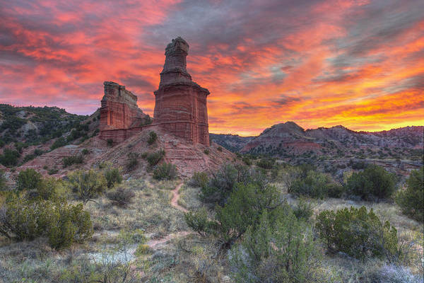 Wall Art - Photograph - Sunset Over The Lighthouse At Palo Duro Canyon 1 by Rob Greebon