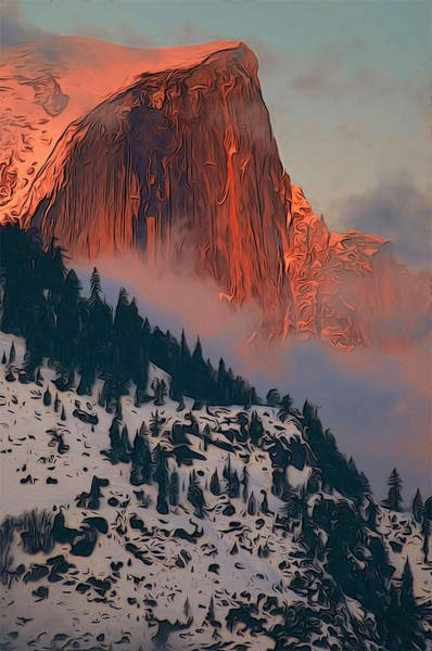 Painting - Sunset Over The Mountain by Andrea Mazzocchetti
