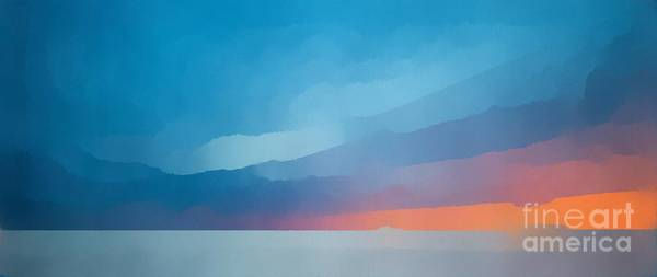 Wall Art - Painting - Sunset Over The Ocean by Edward Fielding