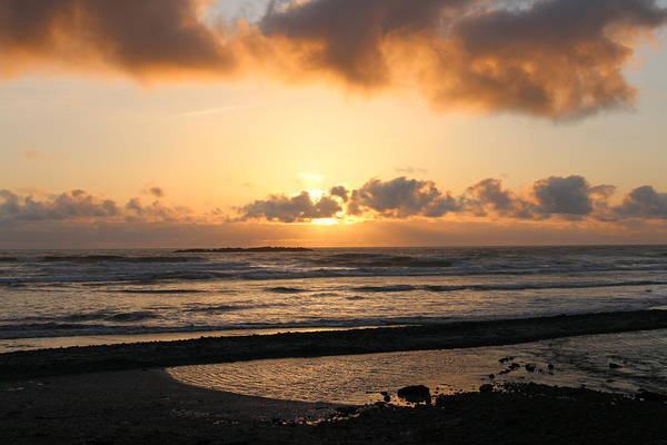 Photograph - Sunset Over The Oregon Coast  by Christy Pooschke