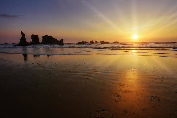 Photograph - Sunset Over The Pacific  by John Kiss