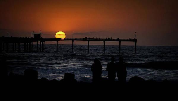 Sunset Over The Pier Art Print