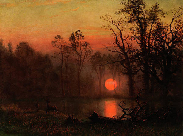 Wall Art - Painting - Sunset Over The Plains by Celestial Images