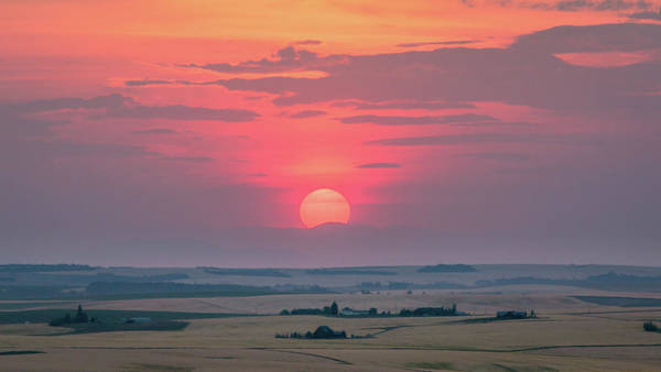 Photograph - Sunset Over The Plains by M C Hood