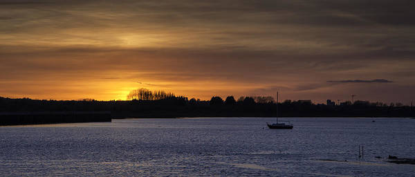 Medway Wall Art - Photograph - Sunset Over The River by Nigel Jones