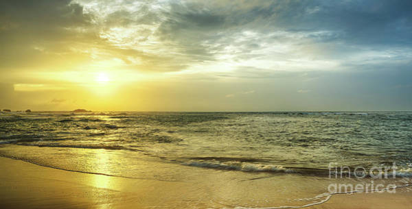 Srilanka Wall Art - Photograph - Sunset Over The Sea. Panorama by MotHaiBaPhoto Prints