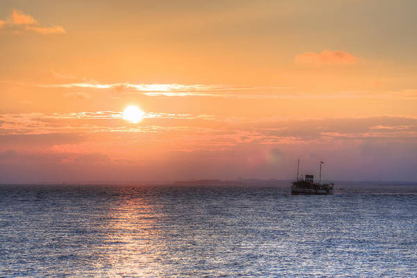 Milford Photograph - sunset over the Solent - England by Joana Kruse