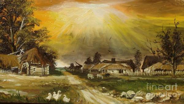 Painting - Sunset Over The Village by Sorin Apostolescu