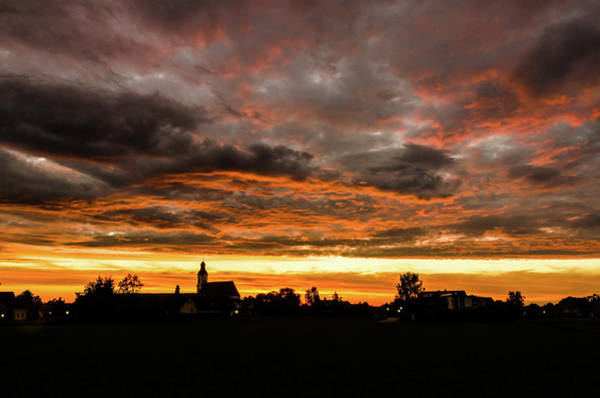 Photograph - Sunset Over The Village by Wolfgang Stocker