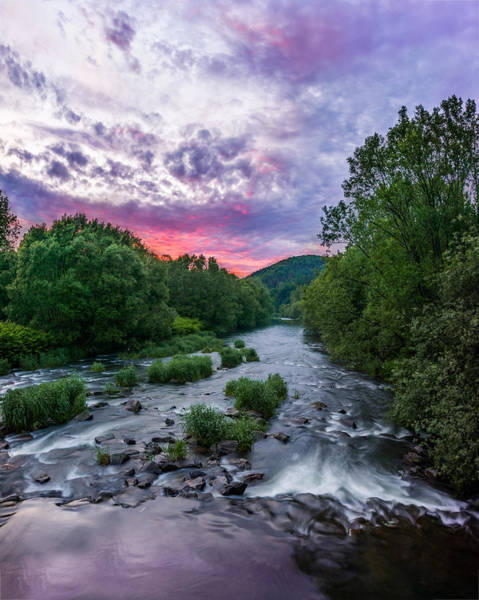 Photograph - Sunset Over The Vistula In The Silesian Beskids by Dmytro Korol