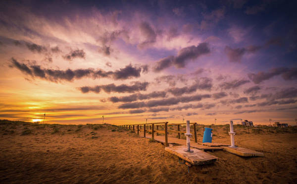 Photograph - Sunset Over The Walkway. by Gary Gillette