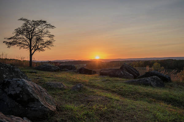 Wall Art - Photograph - Sunset Over These Hollowed Grounds  by Dave Sandt