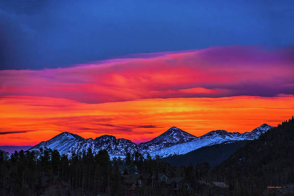 Arapahoe County Wall Art - Photograph - Sunset Over Torreys And Grays Peaks by Stephen Johnson