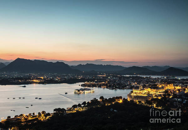 Photograph - Sunset Over Udaipur In India by Didier Marti
