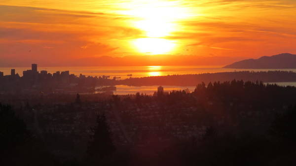 Photograph - Sunset Over Vancouver by Hagen Pflueger