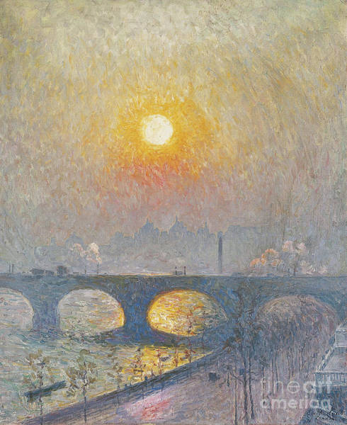 Wall Art - Painting - Sunset Over Waterloo Bridge, 1916 by Emile Claus