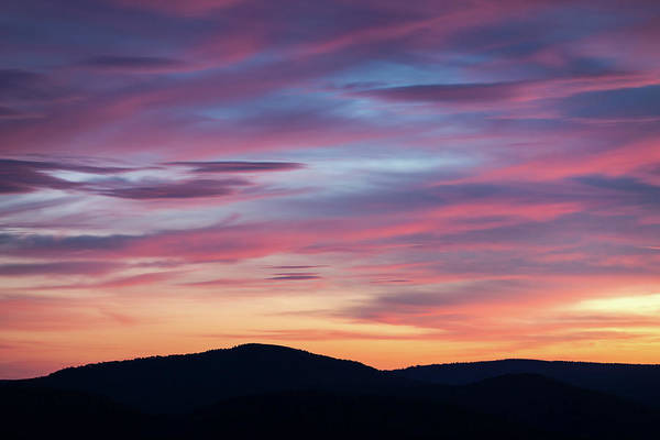 Photograph - Sunset Over Scenic West Virginia by M C Hood