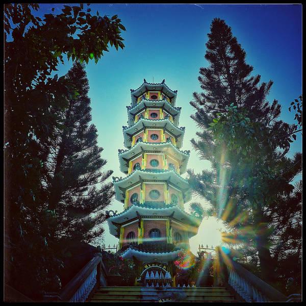 Vung Tau Photograph - Sunset Pagoda by Britt Traynham