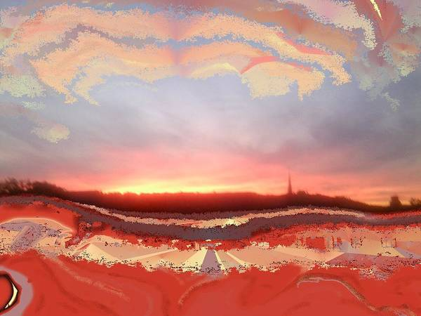 Mixed Media - Sunset Painted Photo by Julia Woodman