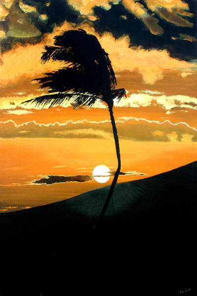 Painting - Sunset Palm by Pierre Leclerc Photography