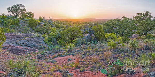 Wall Art - Photograph - Sunset Panorama At Enchanted Rock State Natural Area - Fredericksburg Texas Hill Country by Silvio Ligutti