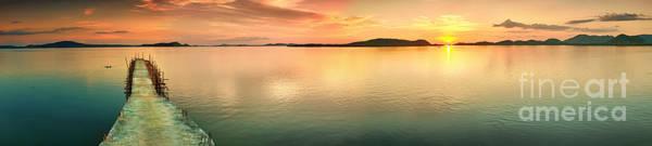 Sunset Panorama Art Print