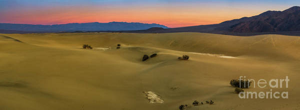 Wall Art - Photograph - Sunset Panorama Of Death Valley's Sand Dunes. by Jamie Pham