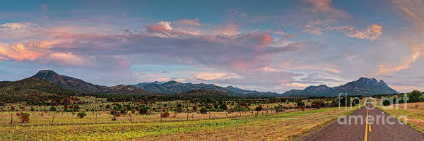 Wall Art - Photograph - Sunset Panorama Of Sawtooth Mountain And Davis Mountains Preserve - Nature Conservancy West Texas by Silvio Ligutti