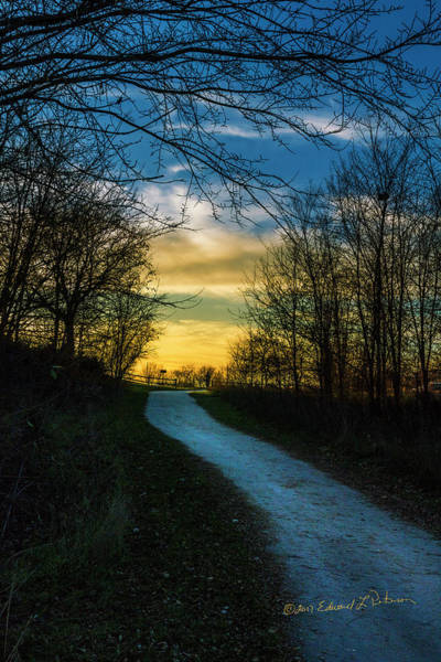 Photograph - Sunset Path by Edward Peterson