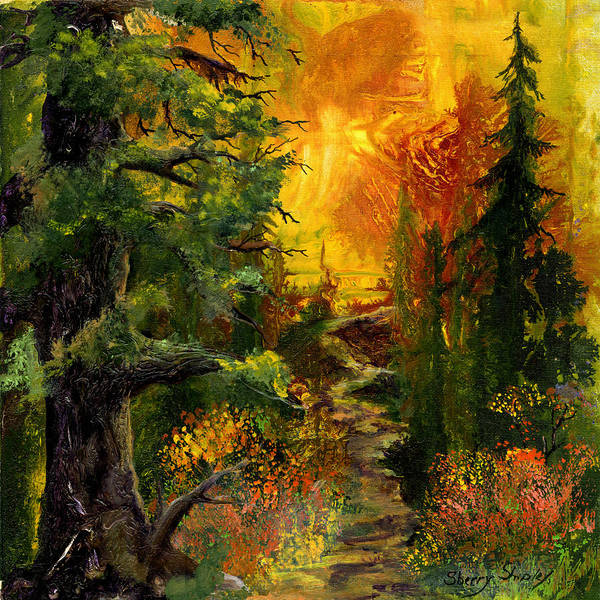 Painting - Sunset Path by Sherry Shipley