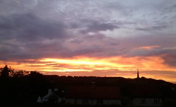 Photograph - Sunset Photo Early July 2016, Ranmore, Dorking by Julia Woodman