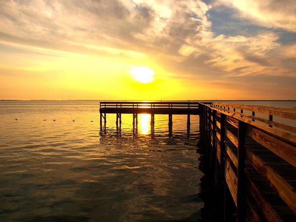 Photograph - Sunset Pier Destin by James Granberry