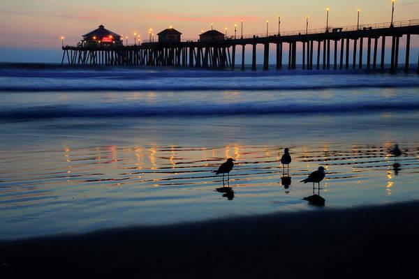 Huntington Beach Photograph - Sunset Pier by Pierre Leclerc Photography