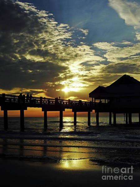 Photograph - Sunset Pier Reflection by D Hackett