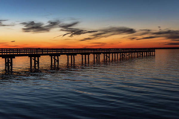 Photograph - Sunset Pier Seaside Nj January 2017 by Terry DeLuco