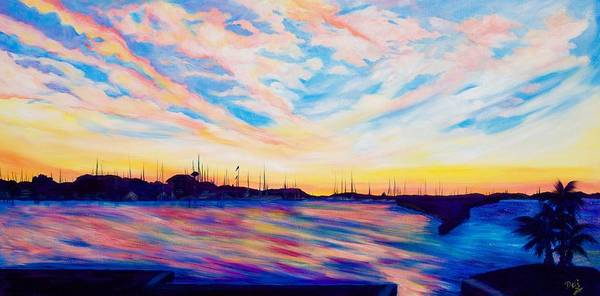 Wall Art - Painting - Sunset Point by Debi Starr
